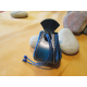 bourse bleue à motif cigale