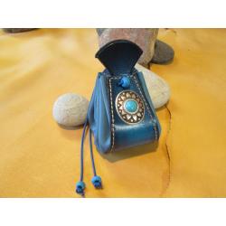 bourse bleue avec conchas bleu