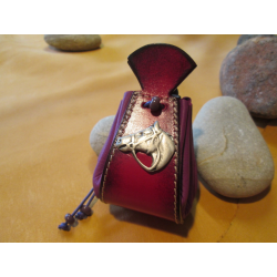 bourse rose motif tete de cheval