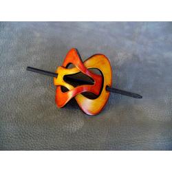 Barrette Jaune - Orange