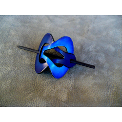 Barrette Bleu Clair - Bleu Fonçé