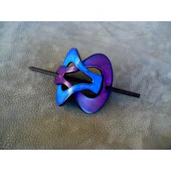 Barrette Bleu Clair - Violet
