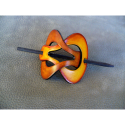Barrette Jaune - Marron Clair