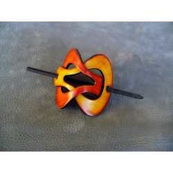 Barrette Jaune - Orange