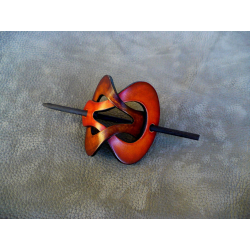Barrette Marron Clair - Orange