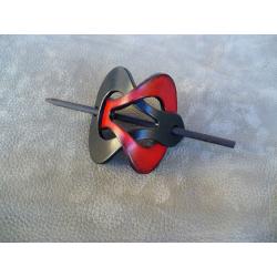 Barrette Noir - Rouge